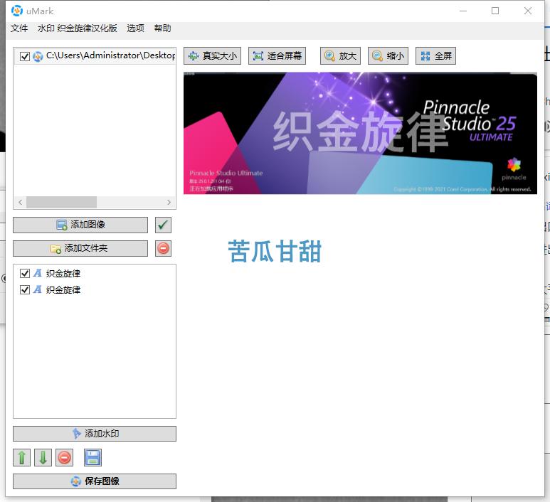 批量加水印工具 Uconomix uMark 6.5 中文版插图